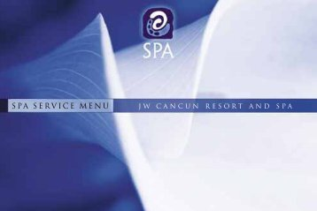 Spa Brochure_FINAL - Paradise By Marriott