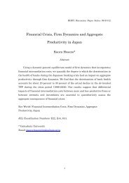Financial Crisis, Firm Dynamics and Aggregate Productivity ... - G-sec