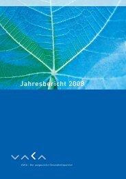 Jahresbericht 2008 - VAKA