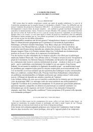 L'EUROPE POLITIQUE - Spire - Sciences Po