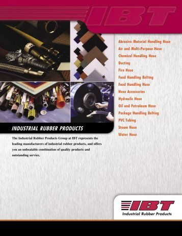 Rubber Products & Services Line Card - IBT, Inc.