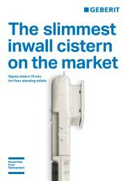 Sigma cistern 75 mm for floor standing toilets - Products