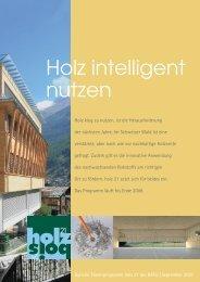 Bulletin 2007 (PDF 2.8 MB) - holz 21