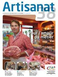 magazine de juin 2011 - Chambre des Métiers et de l'Artisanat