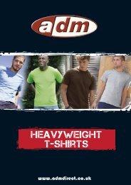 heavyweight t-shirts - ADM Workwear