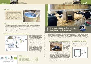 L 39 abreuvement des vaches laiti res en b timent maison de l - Chambre d agriculture de picardie ...