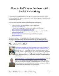 How to Build Your Business with Social Networking