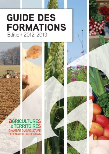 Guide des formations 2012 - Chambre d'agriculture