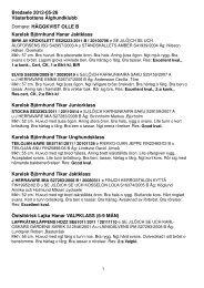 Resultat 2012 - Svenska Älghundklubben