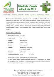 synthèse essai méteil 2012 - Chambre d'agriculture
