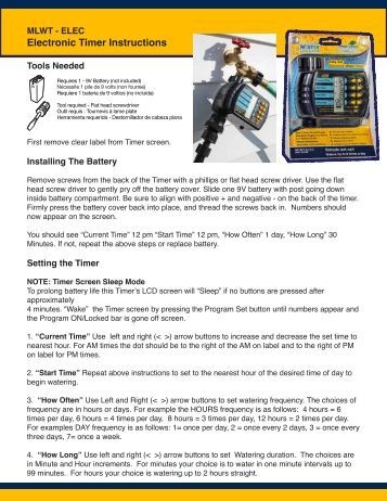 gardena irrigation timer instructions