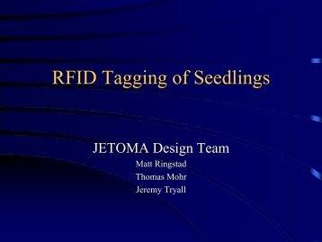 RFID Tagging of Seedlings - University of Washington