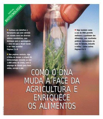 como o dna muda a face da agricultura e enriquece os ... - CIB