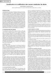 Certification et codification des causes médicales de décès