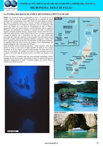 MICRONESIA: ISOLE DI PALAU - Pan Pacific Tours