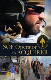 to view the O2A Pamphlet - United States Special Operations ...