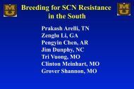 Breeding for SCN Resistance in the South - SoyBase