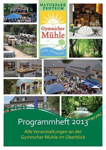 DOWNLOAD - Programmheft 2013 - bachem-events.de