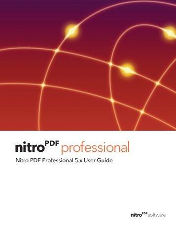 Nitro PDF Professional User Guide