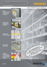 Disponibile nuovo Catalogo V. 2.1 con ampliamento ... - LeanProducts