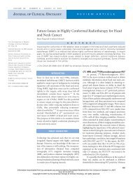 Future Issues in Highly Conformal Radiotherapy for Head ... - ACFW