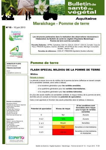 Chancre papyrac obs for Chambre agriculture 06