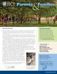 Parents & Families Newsletter - Rice University