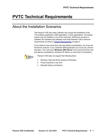 PVTC Technical Requirements
