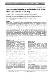 Development and Validation of Stability Indicating RP-HPLC Method ...