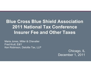 Summary of Health Care Reform Taxes - Blue Cross and Blue ...