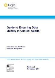 Guide to Ensuring Data Quality in Clinical Audit - HQIP