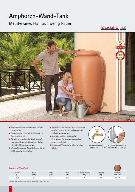 """Kataloginfos Regen-Amphore """"Classic Line"""" - Zisterne - Shop"""