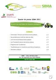 Dossier de presse SIMA 2011 - Chambres d'agriculture