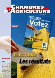 les résultats des élections 2007 par départements - Chambres d ...