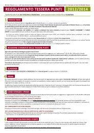 Regolamento ed elenco Premi Raccolta Punti 2012/14 - Mondo Nuovo