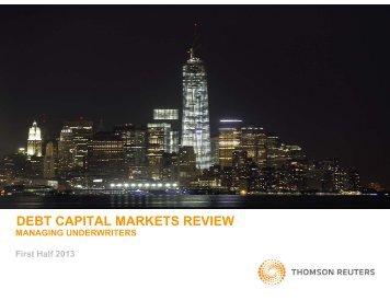 debt capital markets review - Thomson Reuters Deal Making ...