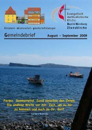Gemeindebrief August – September 2009 - Zionsgemeinde