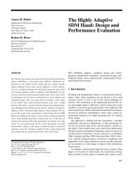 The Highly Adaptive SDM Hand: Design and Performance Evaluation