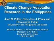 Climate Change Adaptation Research in the Philippines - auedm