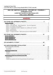 ses nombreuses annexes - Académie de Nancy-Metz