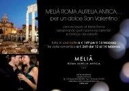 Meliá RoMa auRelia antica… per un dolce San Valentino