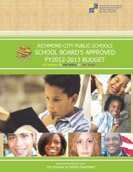 school board's approved fy2012-2013 budget - Richmond Public ...