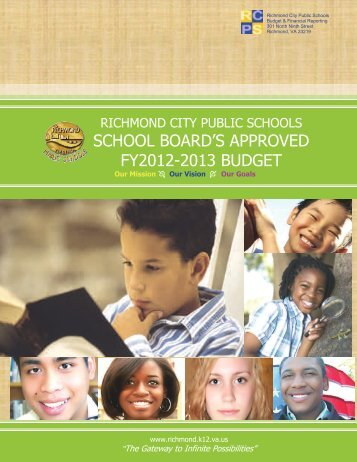 school board's approved fy2012-2013 budget - Richmond Public ...