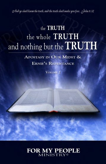 The TRUTH book Volume 2 (PDF) - For My People Ministry