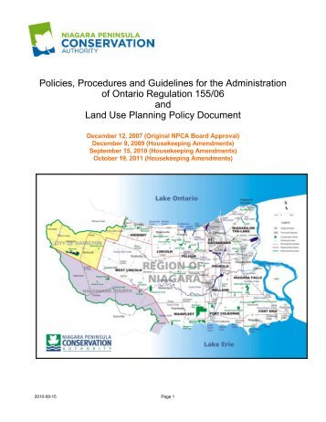 Land Use Planning & Review Policy - Niagara Peninsula ...