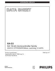 XA 16-bit microcontroller family, 32K/512 OTP/ROM/ROMless ...