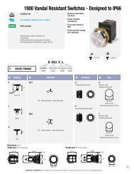 1900 Vandal Resistant Switches - Designed to IP66