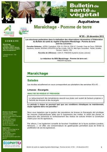BSV Maraîchage N°35 du 20/12/2012 - Les chambres d'agriculture ...