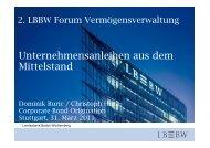 Unternehmensanleihen aus dem Mittelstand - Forum ...