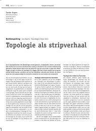Topologie als stripverhaal - Nieuw Archief voor Wiskunde